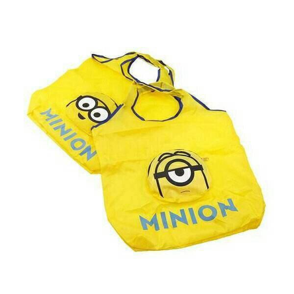 【UNIPRO】日貨 小小兵 Minions 蘿蔔 BOB 史都華 環保收納袋 購物袋 手提袋 禮物 神偷奶爸 正版