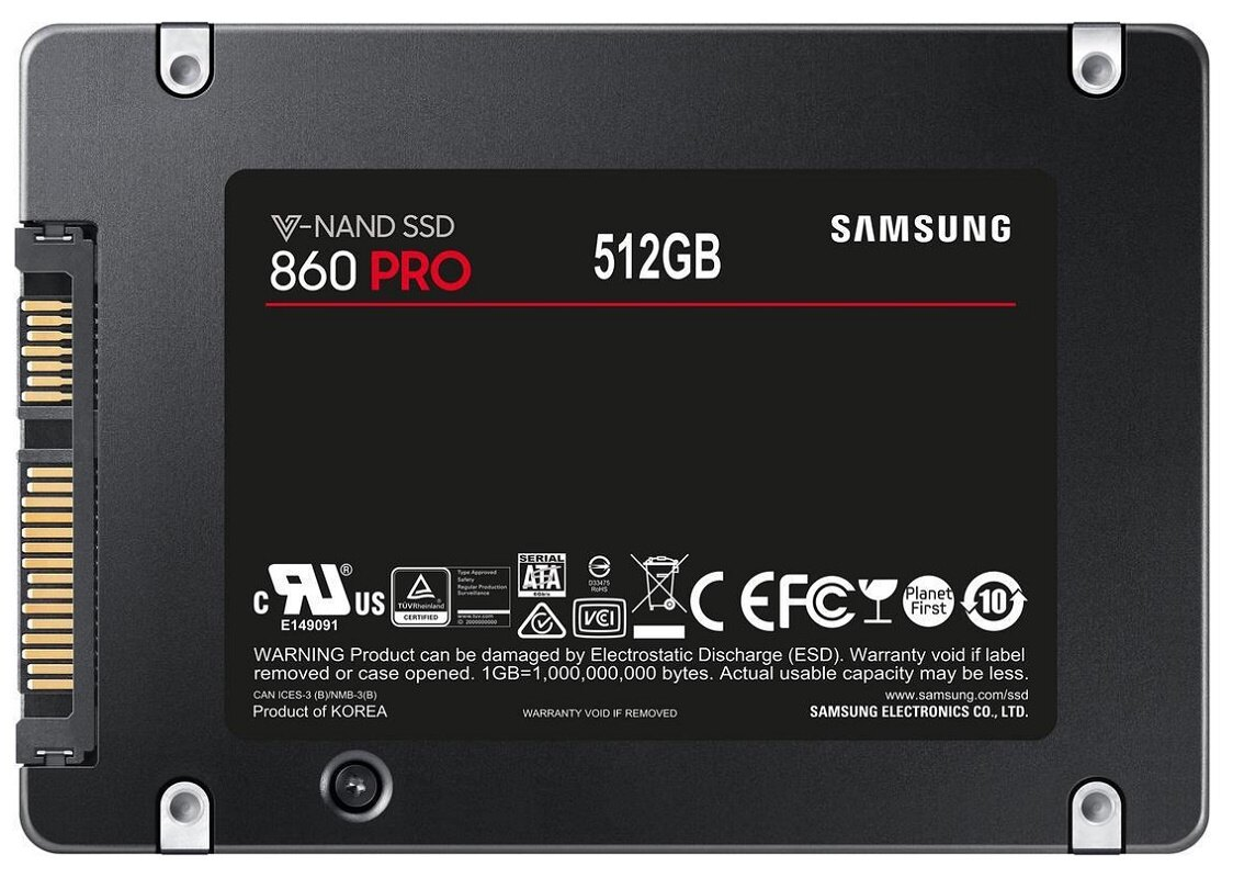 "Samsung SSD 860 Pro 512GB 2.5"" SATA III 3D NAND 512G Internal Solid State Drive MZ-76P512BW 2"