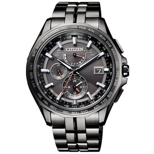 CITIZENGENTS炫黑風采光動能電波時計腕錶AT9097-54E