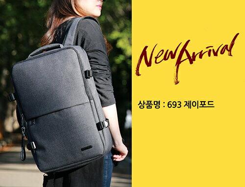 後背包 韓國LEFTFIELD牛津布機能兩用背包 電腦包 書包 側背包 NO.693~包包