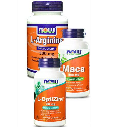 【小資屋】NOW健而婷 MACA瑪卡+精胺酸一氧化氮+鋅- 維持巔峰套組