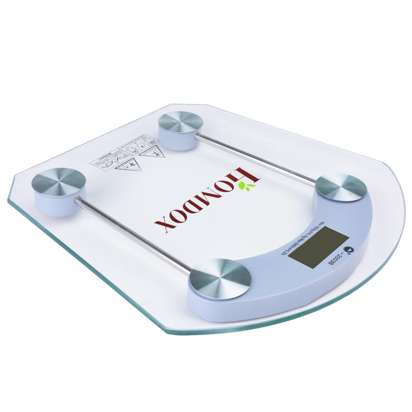 Geometric Digital LCD Glass Body Weight Scale High Precision 150kg 0