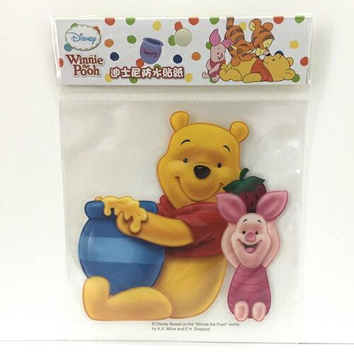 【真愛日本】13121100018 防水貼紙L-維尼蜂蜜糖罐 迪士尼 維尼家族 POOH 行李箱裝飾貼紙