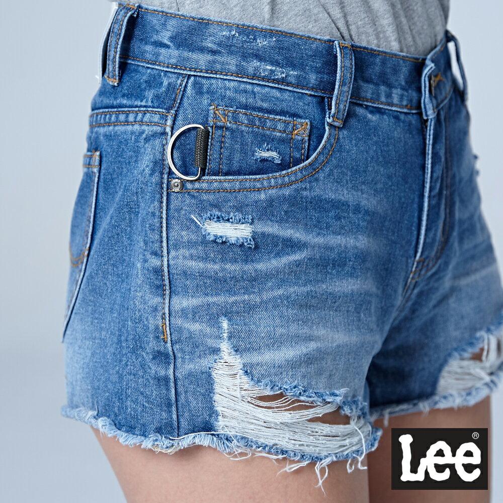 ❤ 領券再九折❤Lee 心機小性感破損牛仔短褲-水洗藍-女短褲-LL18 6