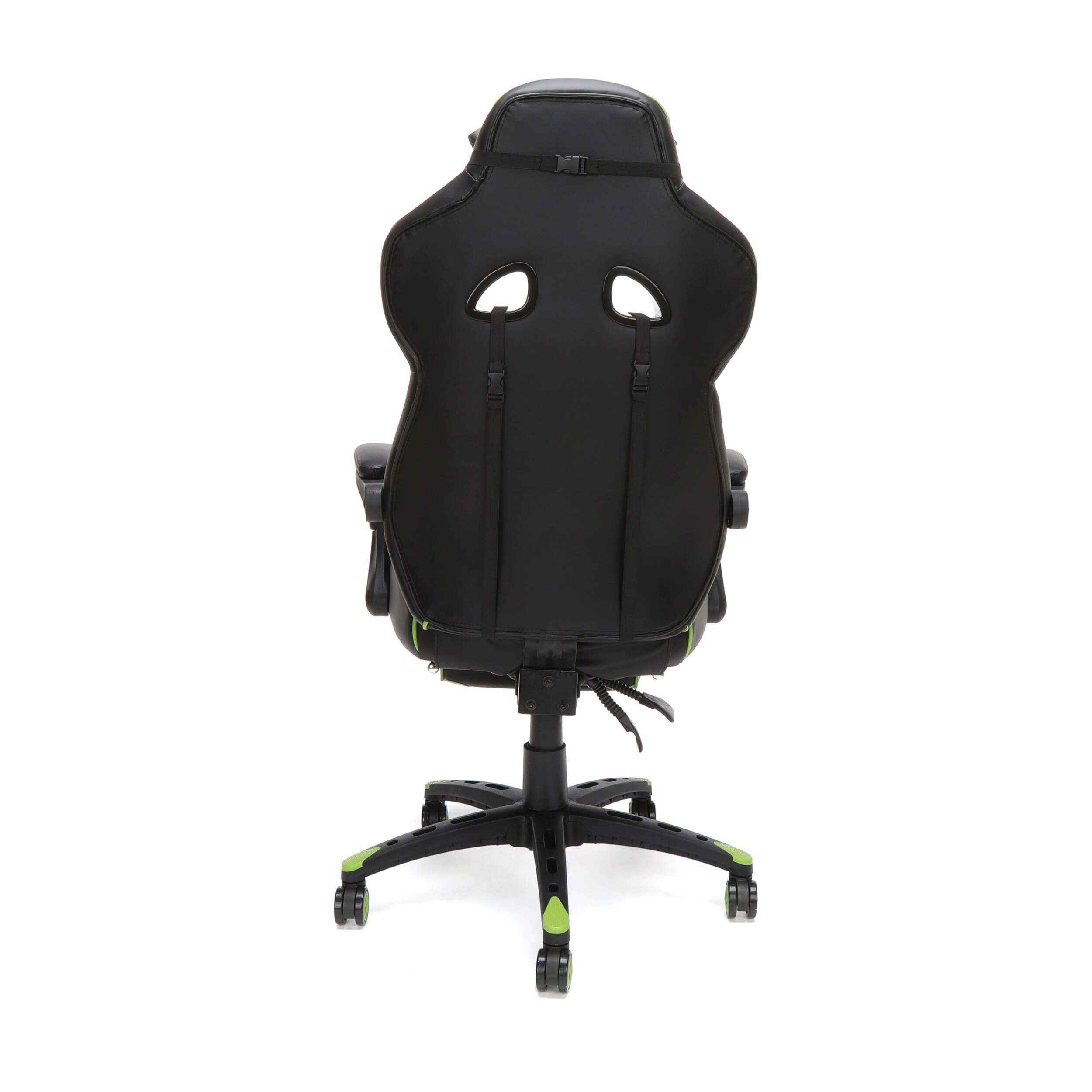 Stupendous Respawn 110 Racing Style Gaming Chair Reclining Ergonomic Leather Chair With Footrest Office Or Gaming Chair Green Rsp 110 Pabps2019 Chair Design Images Pabps2019Com