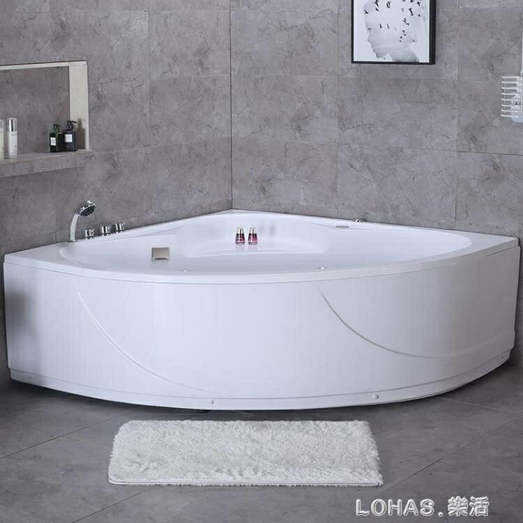 壓克力浴缸家用浴缸小戶型浴缸三角形浴缸扇形浴缸1.0米-1.5米
