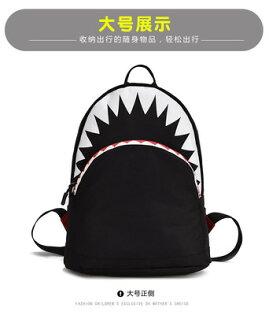 BaMo不防水韓版鯊魚2018春季新款兒童幼稚園小書包小背包潮流書包時尚