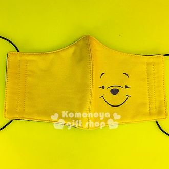 〔小禮堂〕小熊維尼 成人立體口罩《黃.大臉》感冒對策用品
