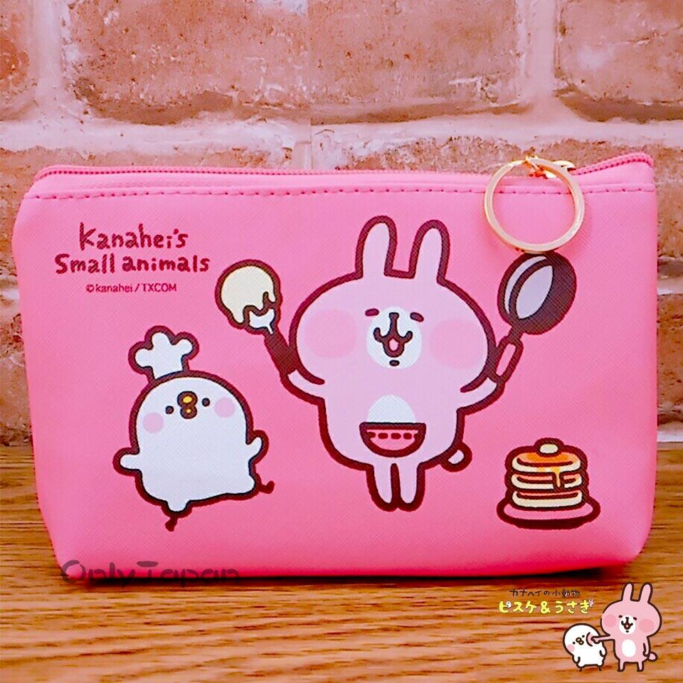 ~真愛 ~18020900021 皮質船型化妝包~卡娜P助烤蛋糕桃 卡娜赫拉的小動物 兔兔