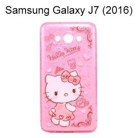 HelloKitty空壓氣墊軟殼[小熊]SamsungGalaxyJ7(2016)J710【三麗鷗正版授權】