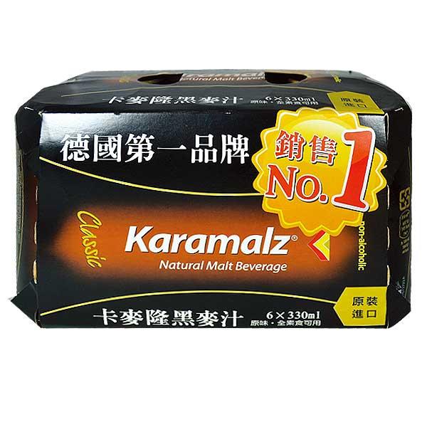 Karamalz 德國進口黑麥汁(易開罐) 330ml (24入)x2箱【康鄰超市】 2