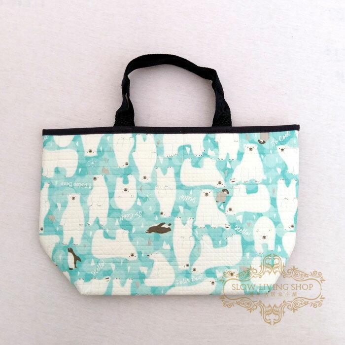 日本進口 (大北極熊-藍)H20CM 保冷袋 保溫袋 便當袋 野餐 露營 手提袋