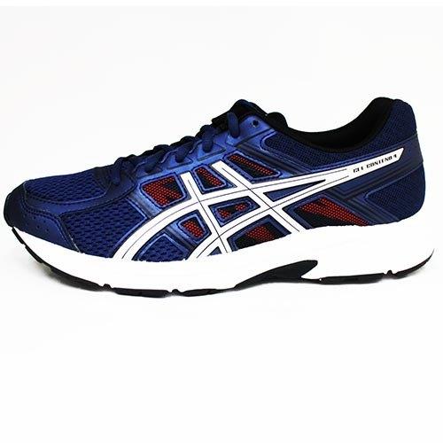 Asics亞瑟士男慢跑鞋GEL-CONTEND4(4E)(藍銀)學生鞋T715N-400【胖媛的店】