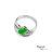 大東山珠寶 星星奇蹟 天然緬甸正陽綠A貨翡翠 頂級真鑽18K白金戒 2