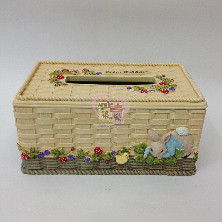 比得兔PeterRabbit 草莓面紙盒/紙巾盒, 同系列另有餐巾架/筆筒/牙籤罐可搭配