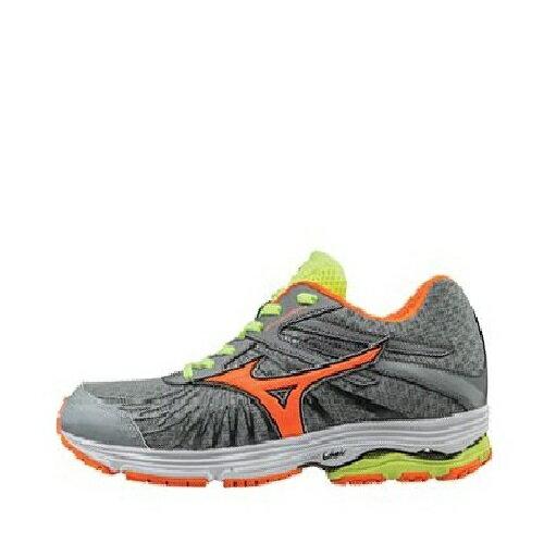 MIZUNO WAVE SAYONARA 4 男鞋 慢跑 緩衝型 耐磨 透氣 灰 橘【運動世界】J1GC163054