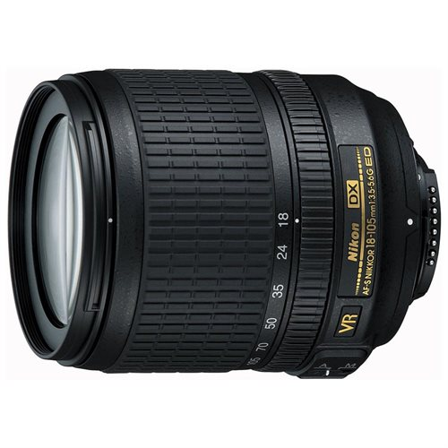 Nikon Nikkor - 18 mm to 105 mm - f/3.5 - 5.6 - Zoom Lens for Nikon AF-S - 67 mm Attachment - 0.50x Magnification - 5.8x Optical Zoom - SWM