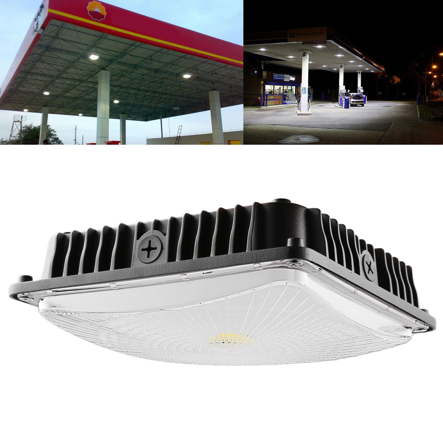 50W LED Square Canopy Ceiling Light Lamp Galley Garage Bay Light 5