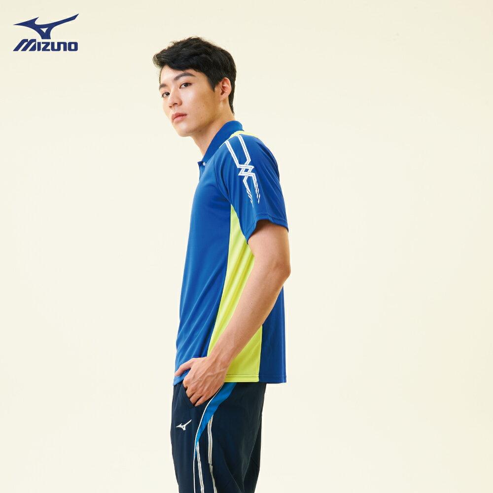 32TA801822(深藍)熱遮蔽布料 男短袖POLO衫【美津濃MIZUNO】 3