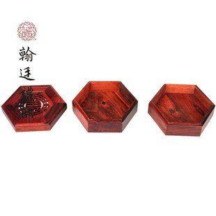 六角多層香盒 紅酸枝香爐