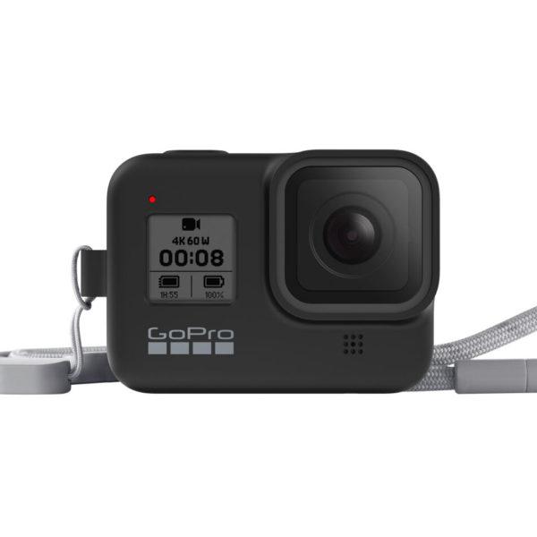 GoPro HERO 8 Black 保護套 + 繫繩 (勁電粉 / 子夜黑 / 晴空藍 / 極地白 / 熔岩橘 / 雨林綠 / 飛沙棕 / 爆竹紅)