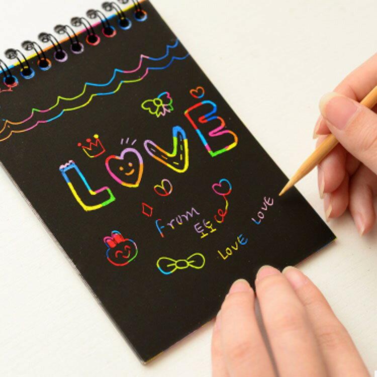小本 創意刮畫 隨意刮畫 韓版趣味塗鴉本 刮刮畫 繪畫本 (小本)【AN022】