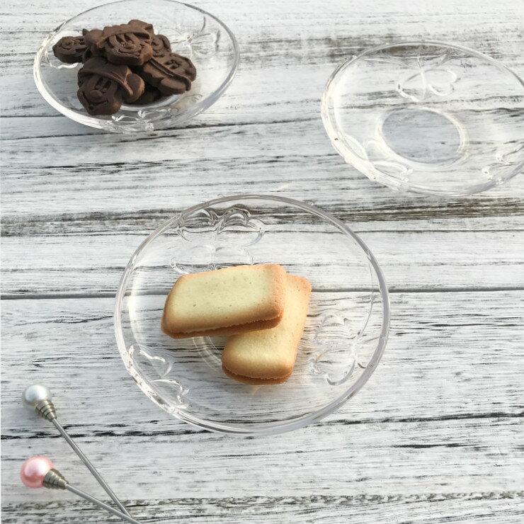 日本空運 SOGA幸運草玻璃小菜碟 日本製 現貨 蛋糕盤 水果盤 玻璃盤