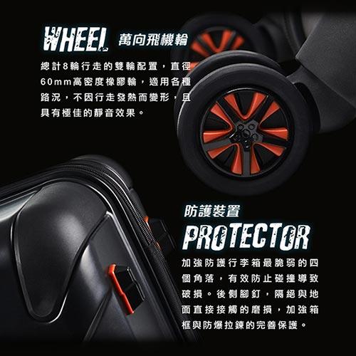 V-ROOX AXIS 28吋 原創設計可擴充行李箱 硬殼防爆雙層拉鏈旅行箱-綠迷彩 6