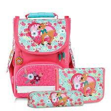 帝安諾-實體店面 Tiger Family超輕量書包+文具袋+鉛筆盒-夢幻小鹿 TGNQ-019AF