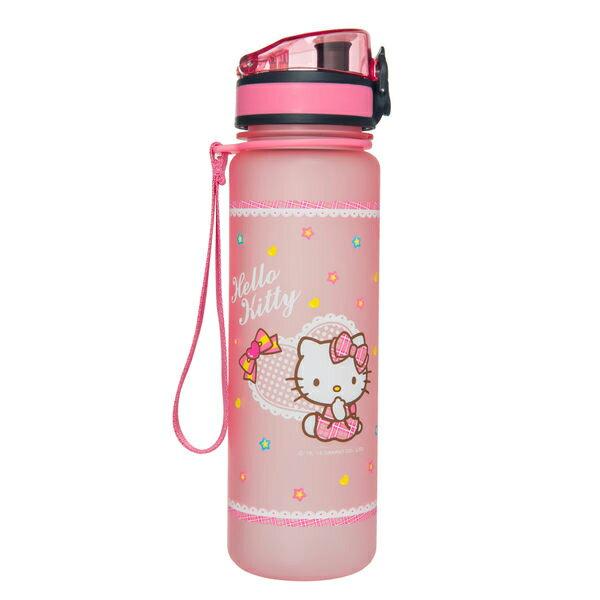 【真愛日本】15070300032怡寶彈蓋水壺500ml-甜心杯粉 三麗鷗 Hello Kitty 凱蒂貓 水壺 水瓶 茶壺
