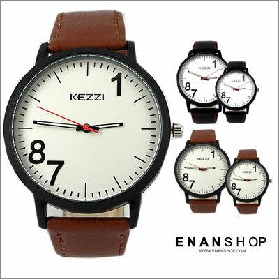 惡南宅急店~0527F~香港品牌KEZZI 趣味數字 中性錶男錶女錶情侶對錶情侶錶 (6款