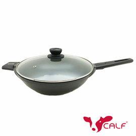 【牛頭牌】小牛硬瓷日式輕量化平圓炒鍋32cm (單把)