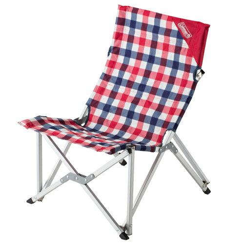 【露營趣】中和 Coleman CM-26563 紅格紋樂活椅 休閒椅 折疊椅 大川椅 摺疊椅