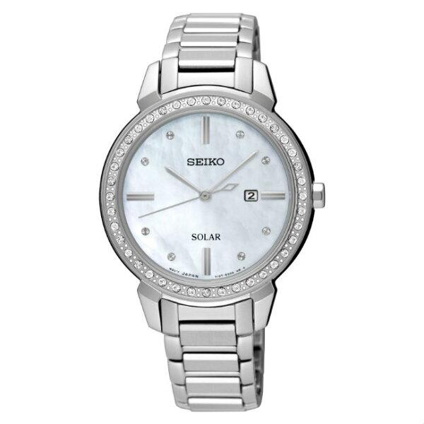 Seiko精工錶CSV137-0CV0S(SUT327P1)施華洛世奇水晶鑽錶白32.1mm