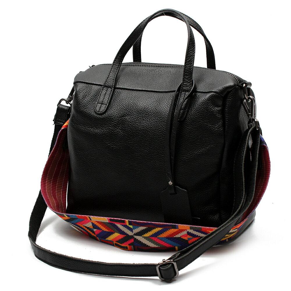 【BEIBAOBAO】歐風編織背帶牛皮三用包(手提+側肩揹+斜背 三用包) 2