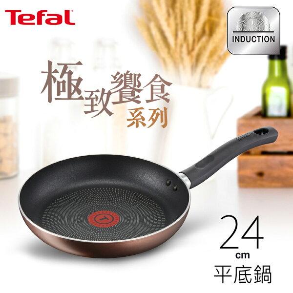 Tefal法國特福極致饗食系列24CM不沾平底鍋(電磁爐適用)SE-G1030414