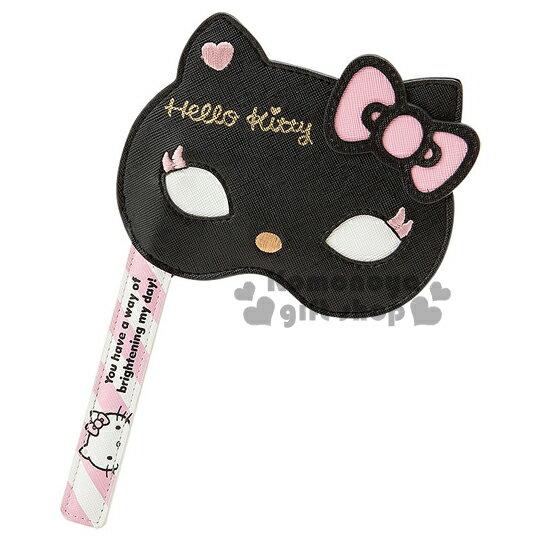 〔小禮堂〕Hello Kitty 造型票夾《黑.面具.粉蝴蝶結》CAT PARTY系列