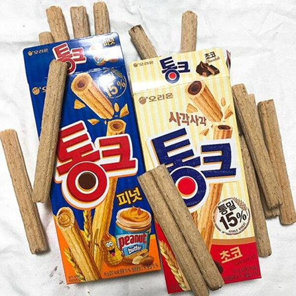 77美妝:【ORION】穀物花生脆棒穀物巧克力脆棒(45g盒)