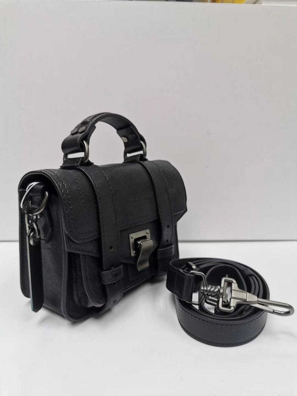 【Chiu189英歐代購】PROENZA SCHOULER PS1 MINI TINY 小型 銀扣 黑色 斜背包