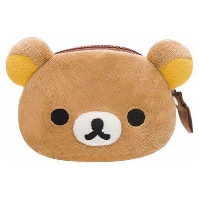 【真愛日本】16101000005 拉鍊零錢包-懶熊大頭 SAN-X 懶熊 拉拉熊 零錢包 收納包 小包包