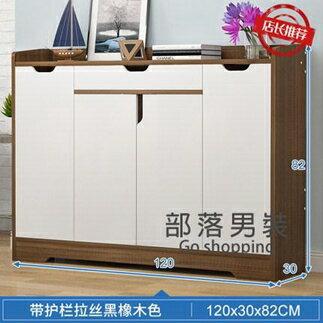 玄關櫃 鞋櫃家用門口大容量玄關陽台儲物櫃實木色現代簡約門廳收納鞋架子T