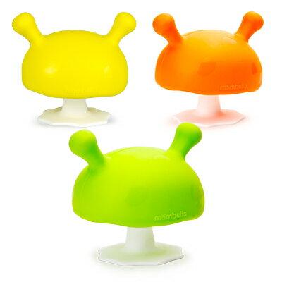【安琪兒】【mombella】Q比小蘑菇固齒器(3色) - 限時優惠好康折扣