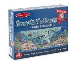 美國瑪莉莎 Melissa & Doug 大型地板拼圖找找看海底動物48 片