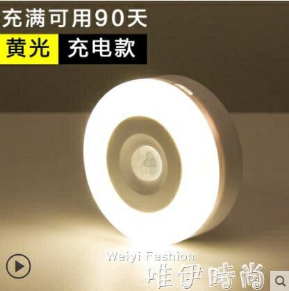 免運 智能人體感應小夜燈led過道家用充電式自動聲控光控樓道走廊壁燈 220v