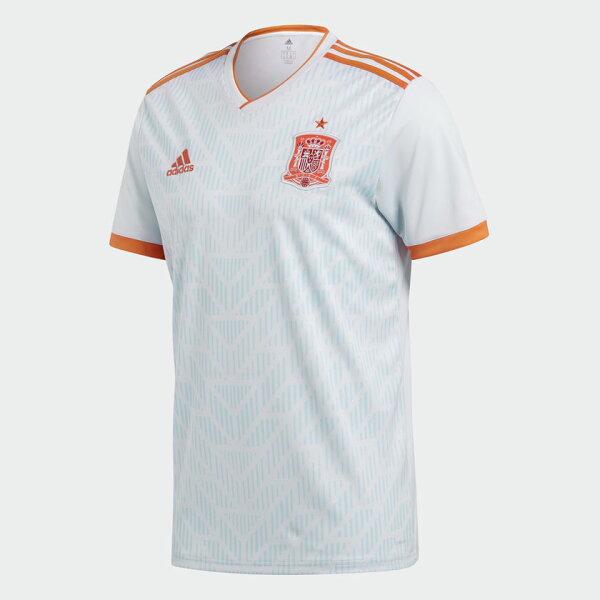 ADIDASSPAINAWAYREPLICA男裝上衣短袖世足賽世界盃西班牙白橘紅【運動世界】BR2697