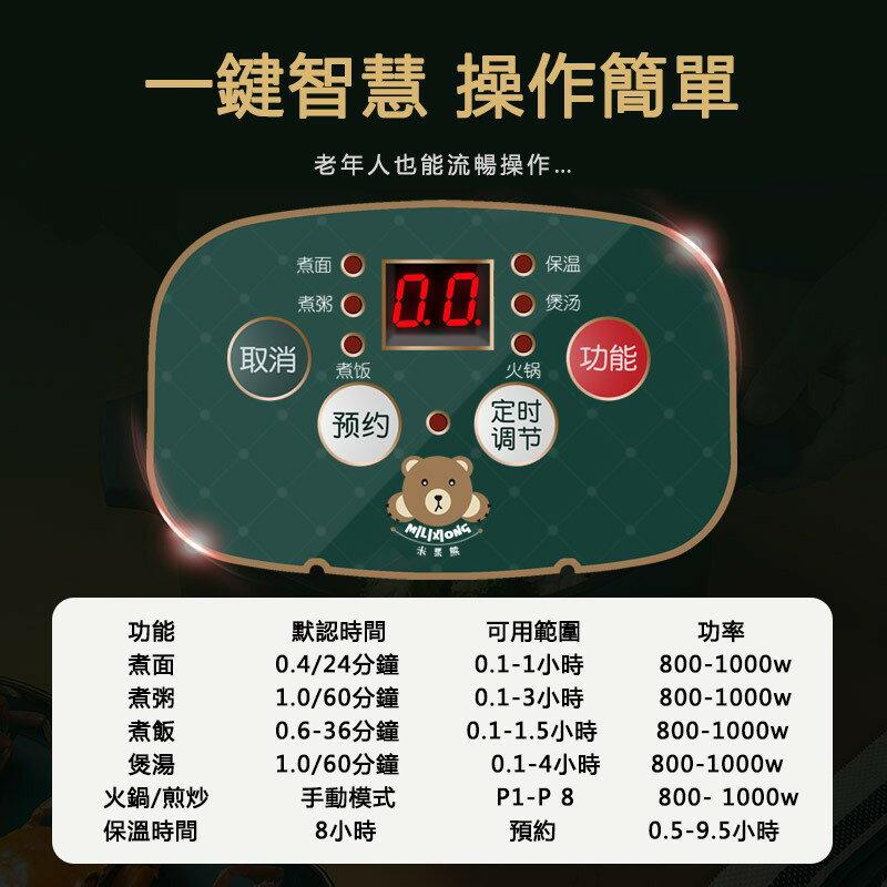 最新款 臺灣現貨 液晶顯示110v 送蒸籠+八件套 智能快煮鍋 快煮美食鍋 電火鍋 小電鍋