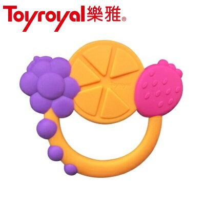 日本【ToyRoyal樂雅】牙膠水果搖鈴