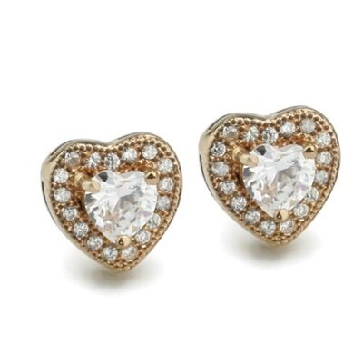 925純銀耳環鑲鑽耳飾~甜美大方 百搭母親節生日情人節 女飾品2色73dm243~ ~~米