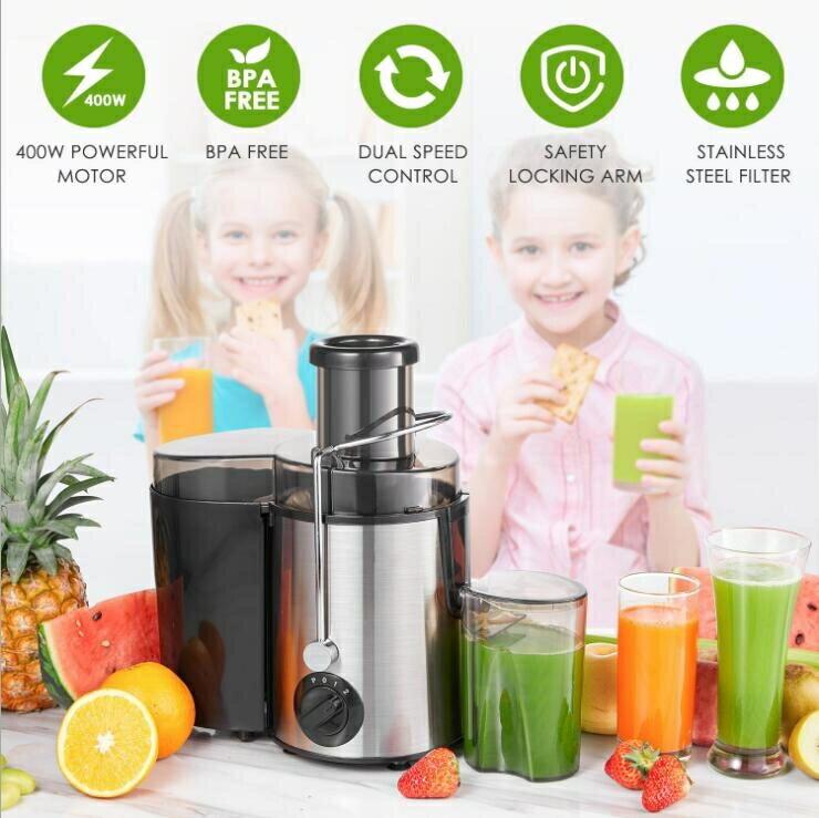 110V榨汁機不鏽鋼家用榨汁機果汁機榨汁分離家庭必備 創時代3C 交換禮物 送禮