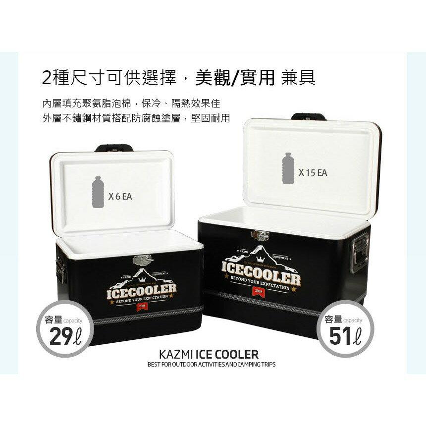 【悠遊戶外】kazmi 黑爵士不鏽鋼行動冰箱 3